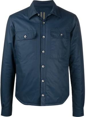 Rick Owens Long Sleeve Padded Shirt Jacket