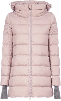 Herno Hooded Zip-Up Puffer Jacket