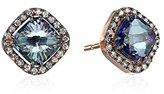 Suzanne Kalan Kalan by English Blue Topaz Rose Gold Post Earrings