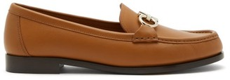 Salvatore Ferragamo Gancio Bit Leather Loafers - Tan