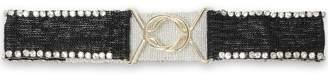Maje Amarylis Crystal-embellished Beaded Cotton Belt