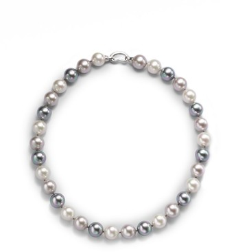 "Majorica 12MM Multicolor Round Pearl & Sterling Silver Strand Necklace/17"""