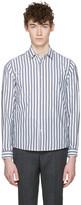 Ami Alexandre Mattiussi Grey and White Classic Shirt
