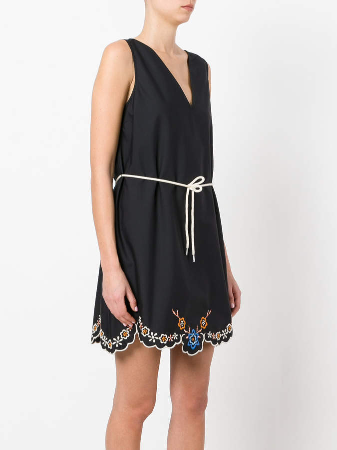 See by Chloe embroidered hem dress