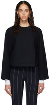 Chloé Navy Wool Cropped Jacket