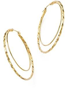Bloomingdale's 14K Yellow Gold Round Double Hoop Earrings - 100% Exclusive