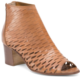 Made In Italy Peep Toe Leather Shooties