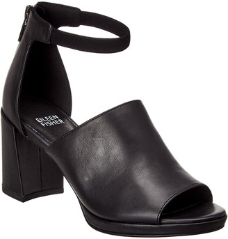 Eileen Fisher Matty Leather Ankle Strap Sandal