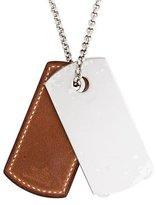 Hermes Bivouac Leather Pendant Necklace