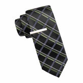 Jf J.Ferrar JF Atlantic Avenue Grid Tie and Tie Bar Set