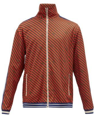 Gucci Striped Jersey Track Jacket - Mens - Orange Multi