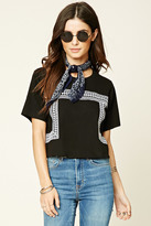 Forever 21 Abstract Embroidered Tee