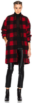 Etoile Isabel Marant Gabrie Blanket Coat in Red,Checkered & Plaid.