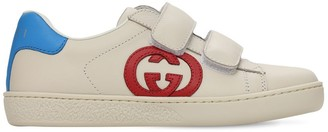 Gucci Leather Straps Sneakers