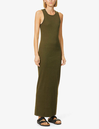 Bassike Sleeveless stretch-cotton jersey maxi dress