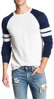 Autumn Cashmere Raglan Athletic Stripes Shirt
