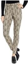 Hue Python High-Waist Denim Leggings (Silver Mink) Women's Casual Pants