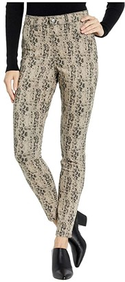 Hue Python High-Waist Denim Leggings (Silver Mink) Women's Casual Pants