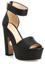 Nicholas Kirkwood Maya Pearly Heel Leather Platform Sandals
