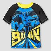 Batman Toddler Boys' ; Rash Guard - Black