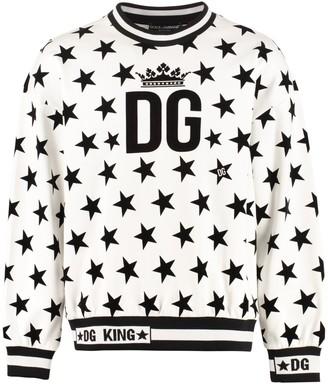 Dolce & Gabbana Printed Cotton Sweatshirt