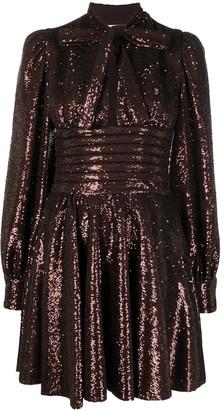 BROGNANO Bow-Detail Sequin Dress