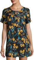 Collective Concepts Floral-Print Short-Sleeve Shift Dress, Multi