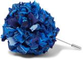 Etro Patterned Silk-Faille Flower Lapel Pin