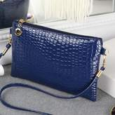 Tinksky Ladies Crossbody Shoulder Bag SmartPhone Wallet Purse Crocodile Pattern