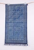 Jaipur Textile Hub 3x5 Superb Hand block printed Asian Art Dabu Dyed Geometric Motifs Dhurry Rug