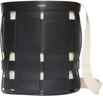 Burberry Foster Two-Tone Bucket Bag