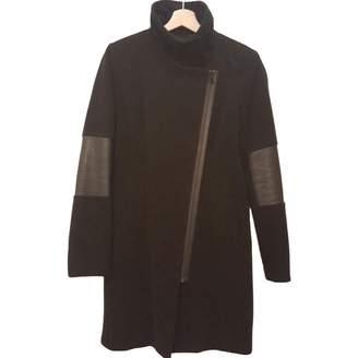 Andrew Marc Black Wool Coat for Women
