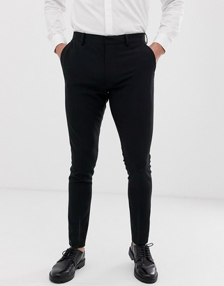 Asos Design DESIGN super skinny smart trousers in black