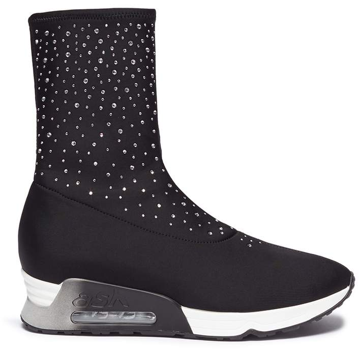 Ash 'Lux' strass sock sneakers