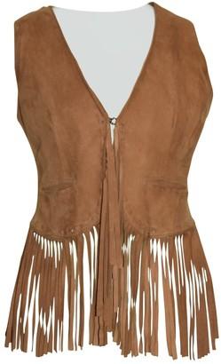 Le Sentier Brown Suede Jacket for Women Vintage