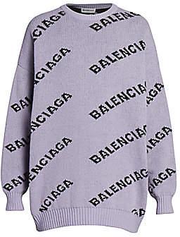 Balenciaga Women's Logo Knit Pullover