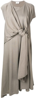 Lemaire knot detail T-shirt dress
