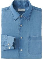 Uniqlo Men's Premium Linen Long Sleeve Shirt