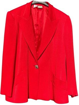 Krizia Red Silk Jacket for Women