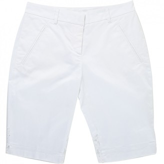N°21 N21 White Cotton Shorts for Women
