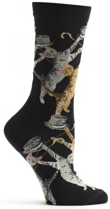 Ozone Women's Cat Conga Sock Black 9-11