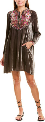 Johnny Was Valmere Henley Silk-Blend Tunic Dress