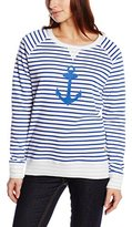 Armor Lux Women's Striped Long Sleeve Jumper - White -