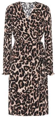 Baum und Pferdgarten Adelota leopard-print wrap dress