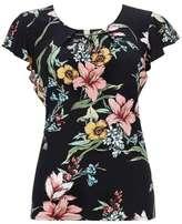 Wallis Black Floral Shell Top