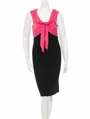 Paule Ka Sleeveless Cocktail Dress w/ Tags Pink