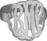 Sterling Personalized Curved Monogram Ring