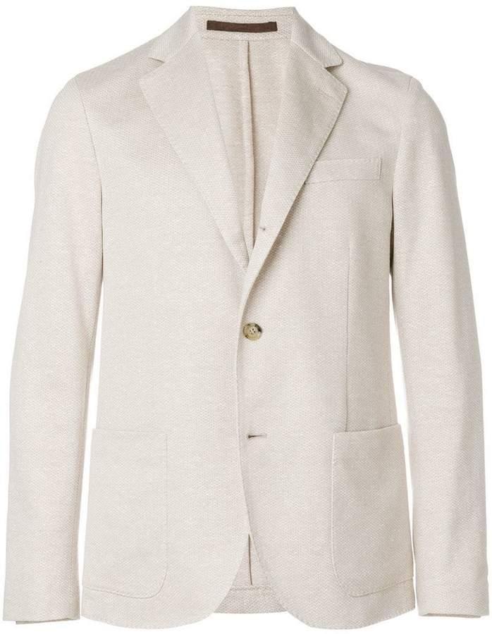 Eleventy two buttoned blazer