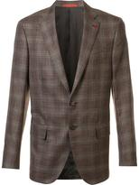 Isaia classic checked blazer - men - Silk/Linen/Flax/Wool/Cashgora - 50