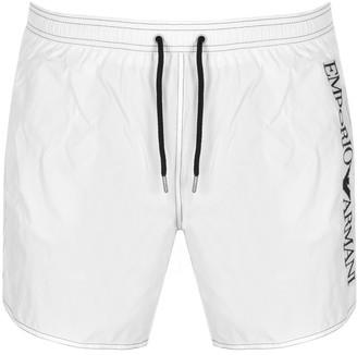 Giorgio Armani Emporio Logo Swim Shorts White